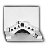 Origami-Architekturkarte RIALTO BRÜCKE