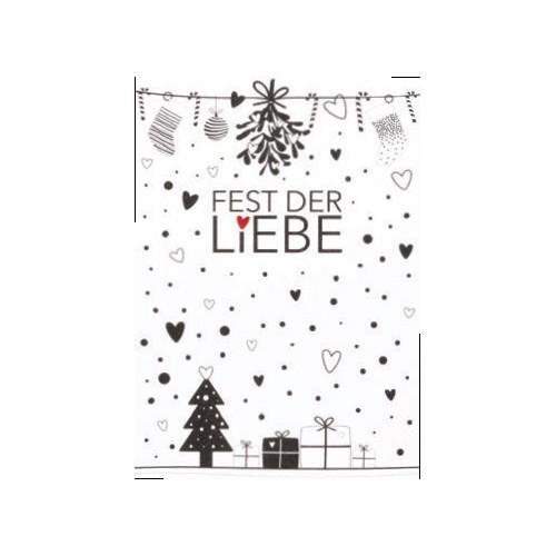 Süße Weihnachtspostkarte Fest der Liebe