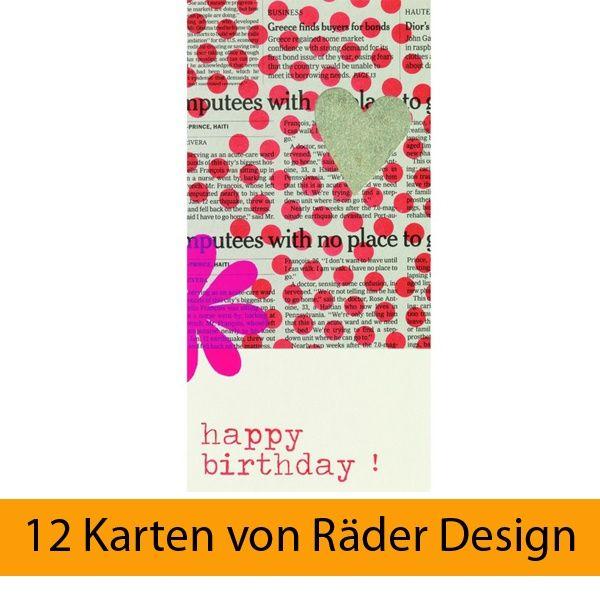 Lieblingsstücke Karte - Happy Birthday! 12er Set