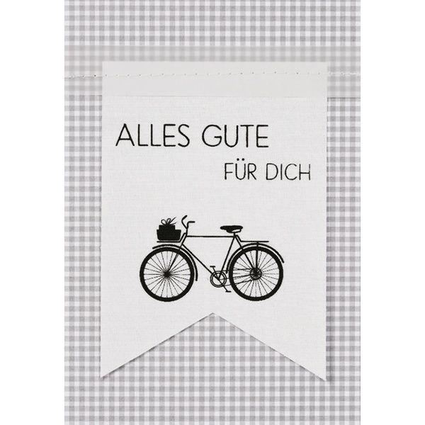 """Fahnenkarte """"Alles Gute für Dich"""""""