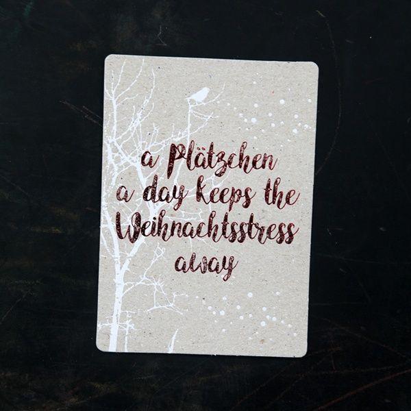 """Winter Postkarte """"A Plätzchen a day"""""""