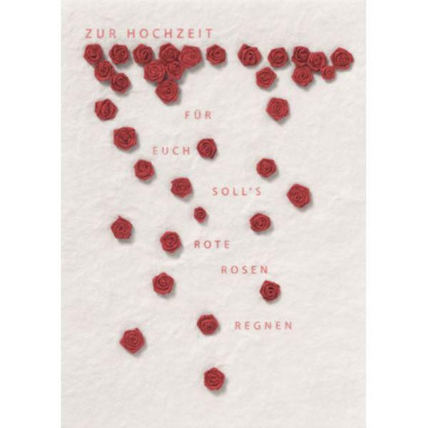 """Blütenhochzeitskarte """"rote Rosen"""""""