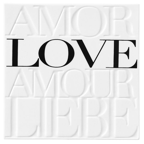 "Porzellanbild ""Amor Love Amour Liebe"""