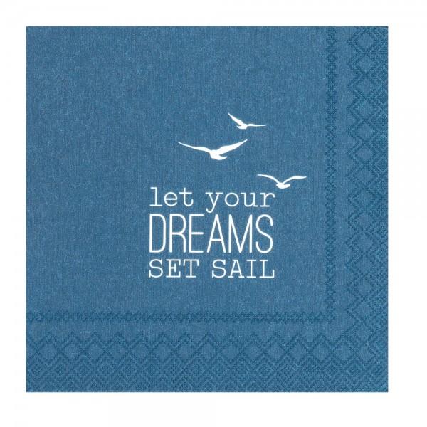 """Meer als Worte - Cocktailservietten """"let your dreams"""""""