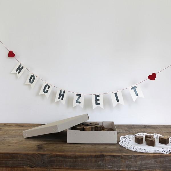 """Hochzeitsgirlande """"Hochzeit"""""""