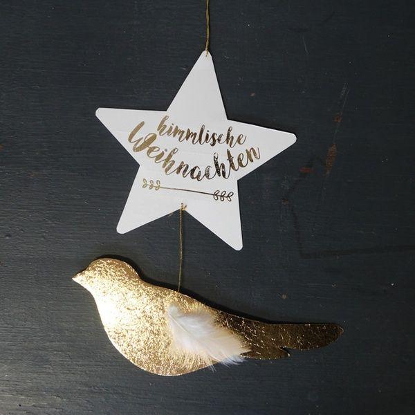 Himmlische Weihnachtsgrüße.Winter Luftpost Himmlische Weihnachten