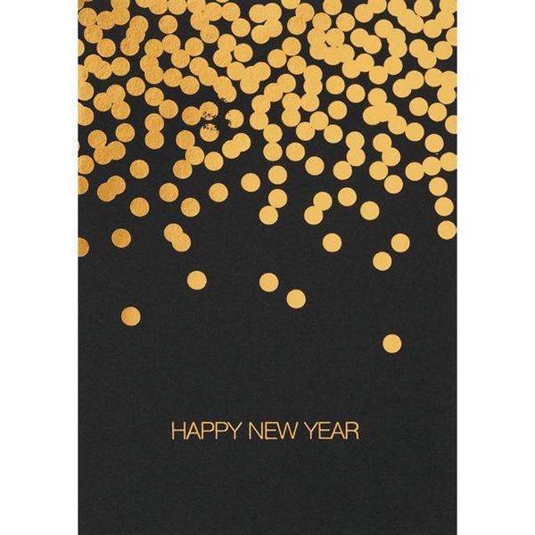 "SILVESTER Postkarte ""Happy New Year"", hoch"