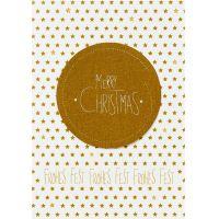"""Weihnachtscanvaskarte """"Merry Christmas"""""""