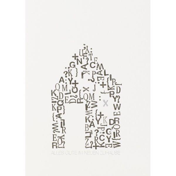 "Stempelkarte ""Haus"""