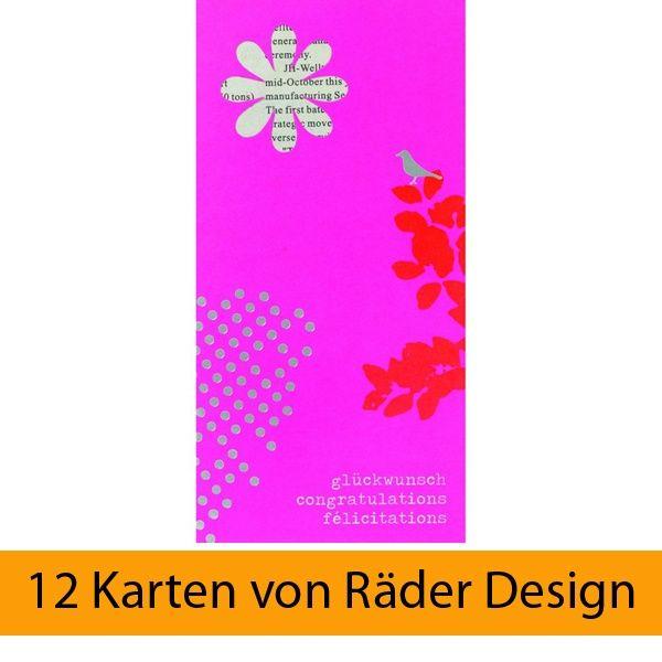 Lieblingsstücke Karte - Glückwunsch, Congratulations,... 12er Set