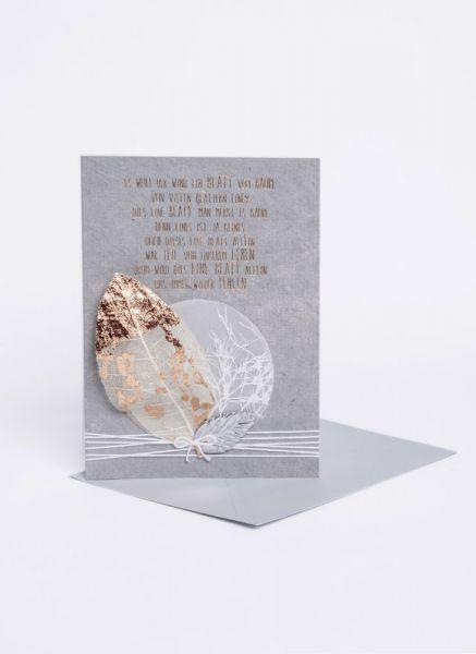 """Blätter Trauerkarte """"Blatt"""""""