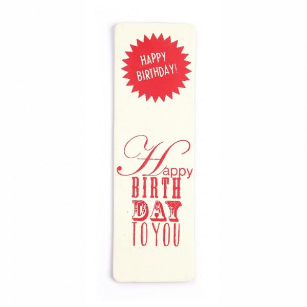 """Good old crafts Lesezeichen """"Happy Birthday"""""""