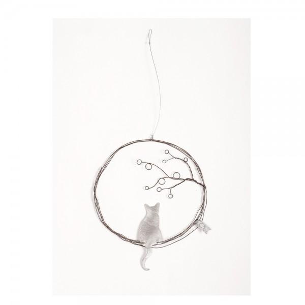 Traum Ornament Katze mit Baum
