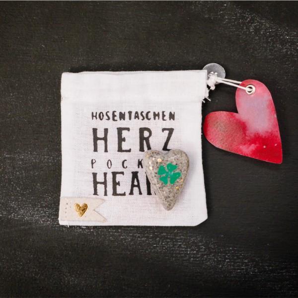 """Hosentaschen Herz """"Klee"""""""