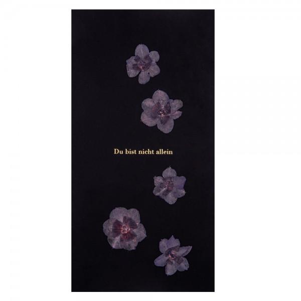 """Natur Trauerkarte """"Du bist nicht allein"""", Blüten"""