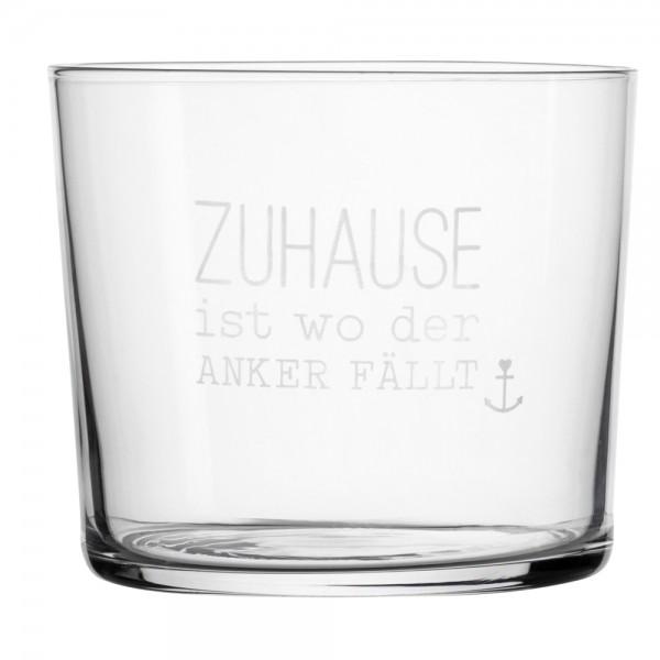 "Meer als Worte - Wasserglas ""Zuhaus.."""