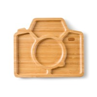 "Bamboo Plate ""Snap & Smile"""