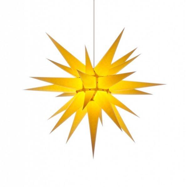Herrnhuter Stern für Innen, Gelb 70 cm