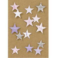 """Mosaikkarte """"Glückwunsch"""" mit Sternen"""
