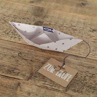 """Papierbootkarte """"Zur Taufe"""""""