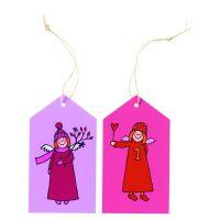 Himmlische Schwestern Geschenkanhänger Rosa