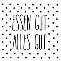 """Serviette """"Essen gut - Alles Gut"""""""