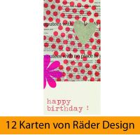 Lieblingsstücke Karte - Happy Birthday! 12er Set