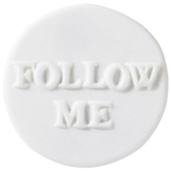 """Lieblinge Porzellanbutton """"Follow me"""""""