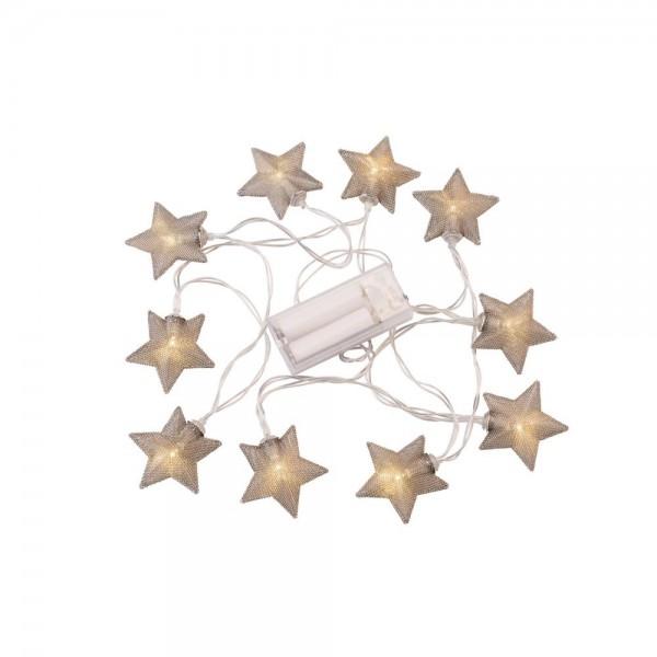 """Lichterkette """"geflochtener Stern"""""""