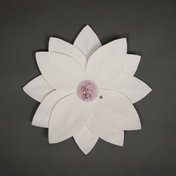 """Wunschblume """"Eine Blume für Dich"""""""