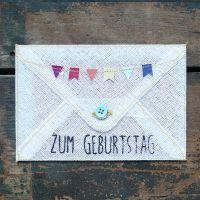"""Grußumschlag """"Zum Geburtstag"""""""