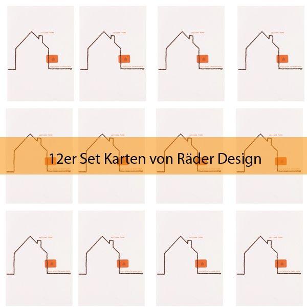 """Summer Stitching Karte """"... im neuen Heim"""" 12er Set"""