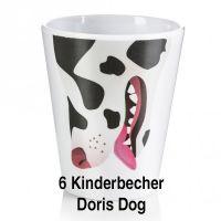 """Kinderbecher """"Doris Dog"""" 6er Set"""