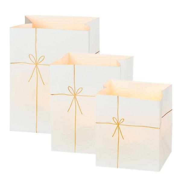 """Papierlichter """"Geschenk"""", 3er Set"""