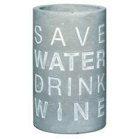 """Vino Beton Weinkühler """"Save water drink wine"""""""