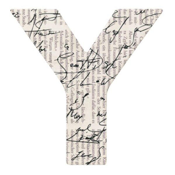 "Paper & Poetry ABC Schachtel ""Y"""