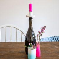 Flaschenkerzenhalter + Weinstopper