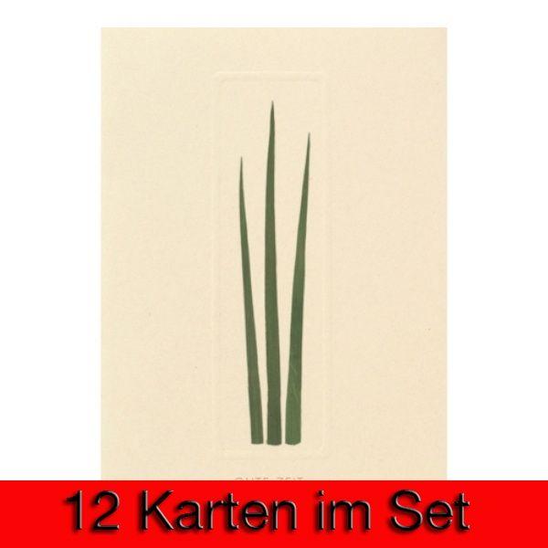 """Blumenrahmenkarte """"Gute Zeit"""" 12er Set"""