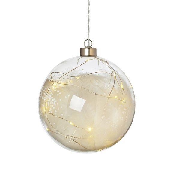 "Lichtkugel ""Federn"", groß mit LED's"