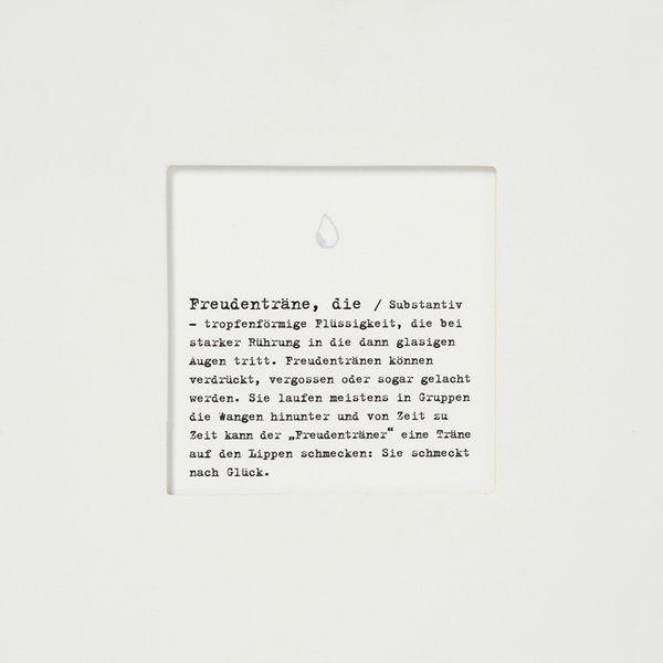 "Passepartoutkarte ""Freudenträne"""