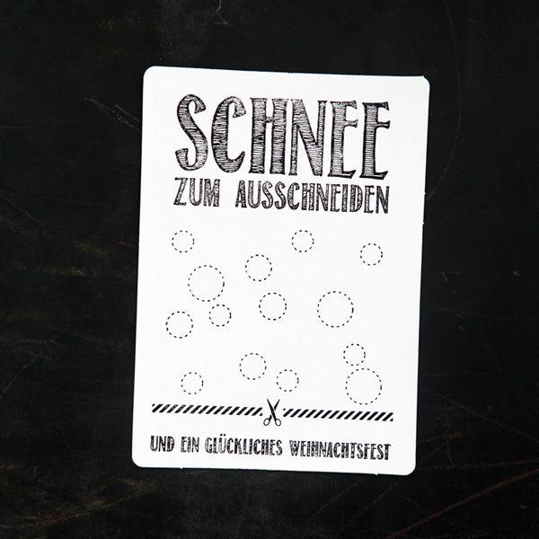 "Winter Postkarte ""Schnee"""