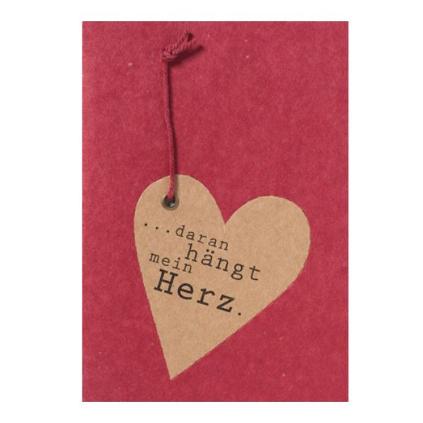 """Anhängerkarte """"Daran hängt mein Herz"""""""