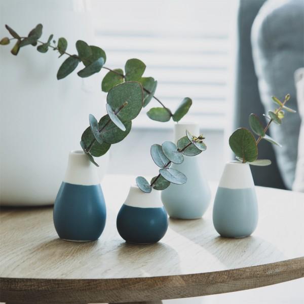 Mini Pastellvasen Blautöne 4er Set