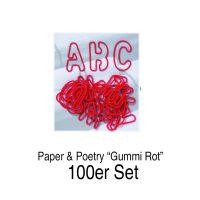 ABC Gummis, 26tlg., rot 100er Set
