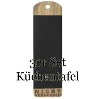 """Poesie et Table Küchentafel """"Nicht vergessen""""  3er Set"""