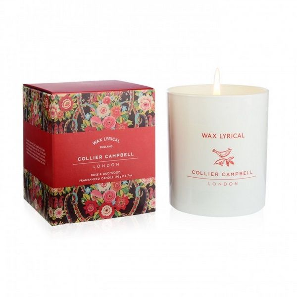 Collier Campbell Rose & Oud Wood Glass Candle