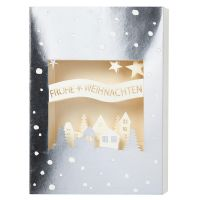 "Christmas Lasercut Karte ""Frohe Weihnachten"""