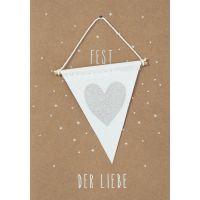 """Weihnachts Wimpelkarte """"Fest der Liebe"""""""