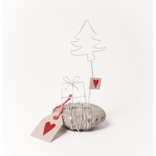 Ideen F303274r Weihnachtskarten.Mini Winter Steingeschichten Geschenk