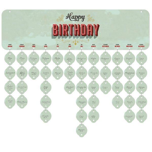 Birthday Board | Immerwährender Geburtstagskalender